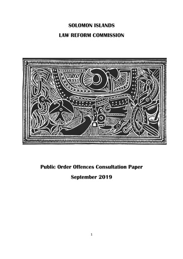 Public Order Offences Consultation Paper